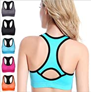 Women's Built-up Sports Bra with Power Mesh Bac