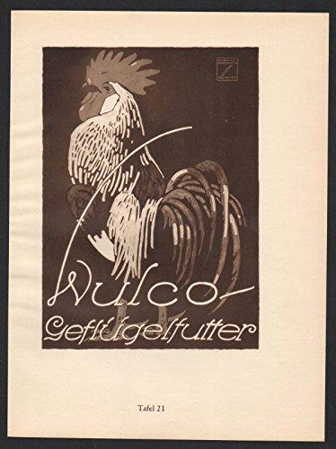 Ludwig Hohlwein Reklame Werbung Plakat Wulco Geflügelfutter Pferdefutter