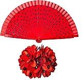 Orlob Kostüm Zubehör Flamenco Spanierin Haarspange Fächer Karneval