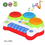 LUKAT Baby Toy for Toddler and Infant, Piano and Drum Musical Toys