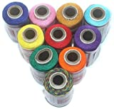 #5: BeadsnFashion Silk Embroidery Jewellery Making Thread Pack of 10
