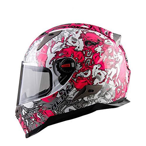 DESESHENME Motorrad Helm voller Helm Helm Motorrad voller Gesichts Helm, Capacete, rosa Muster