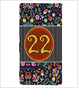PrintDhaba Numerology Number 22 D-3110 Back Case Cover for SONY XPERIA M4 AQUA (Multi-Coloured)