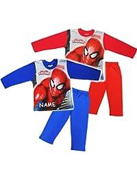 alles-meine.de GmbH 2 TLG. Set _ Hausanzug / Schlafanzug -  Spider-Man  - Größe 2 bis 6 Jahre - Gr. 92 bis 128 - 100 % Baumwolle - Langer Pyjama / Sportanzug langärmelig / TRAI..