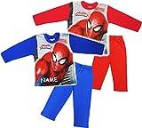 alles-meine.de GmbH 2 TLG. Set _ Hausanzug / Schlafanzug -  Spider-Man  - incl. Name - Größe: 4 Jahre - Gr. 116 - 100 % Baumwolle - Langer Pyjama / Sportanzug langärmelig / Tra..