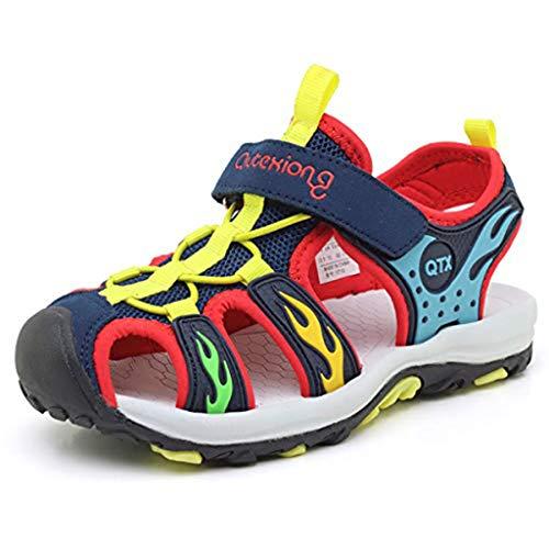 e Sandalen Jungen Outdoor Trekking Strand Sommer Schuhe Kinder, Rot, 27 EU ()