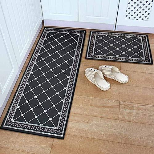 Feixing158 entrata principale lavabile della porta del tappeto del tappeto della cucina della stuoia del pavimento dello stuoino divertente nero di zerbino dell'ingresso lavabile