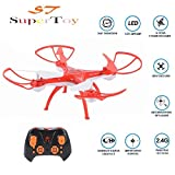 SuperToy(TM) Drone 360° flip & Rotation 2.4G 4 Channel 6 Axis Gyro Headless Mode & Auto Return Toy( Color Blue,Red Or Orange )