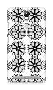 Amez designer printed 3d premium high quality back case cover for Lenovo K5 Note (Bw Beveled Patter)