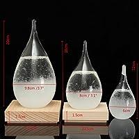Aliciashouse Tempo Tempesta Vetro Goccia Previsioni Meteo Acqua Gocce Forma Cristallo Meteo Previsione Del Crystalloid Decor - S