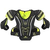 Warrior qx4spsr7QX4Sr hombro Pad, color negro/amarillo, tamaño Large