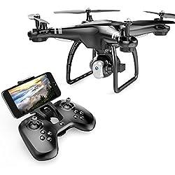 Goolsky Dongmingtuo X8 Drone FPV 2.4G 720P Caméra WiFi Altitude Tenir RC Quadcopter (Noir)