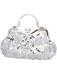 Adoptfade Bolso Clutch Elegante Con Lentejuela Y Diamante Suntuoso Para Señoras De Fiesta