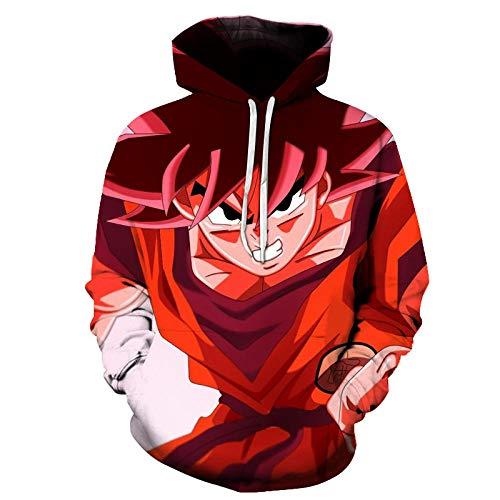 Dragonccc Unisex Anime Sweatshirt Kapuzenpullover Hoodies Langarm für Damen und HerrenDragon Ball Vulgate Vegeta Super Saiyajin Serie @M - Dragon Frauen Z-kleidung Für Ball