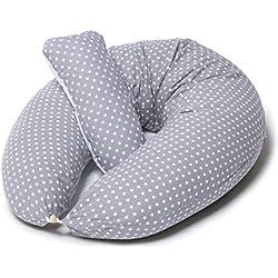 Coussin de Grossesse et d'Allaitement + Oreiller Doux | Oreiller de Corps XXL pour Dormir, Taie Amovible et Lavable|Remplissage Hypoallergénique| Niimo®