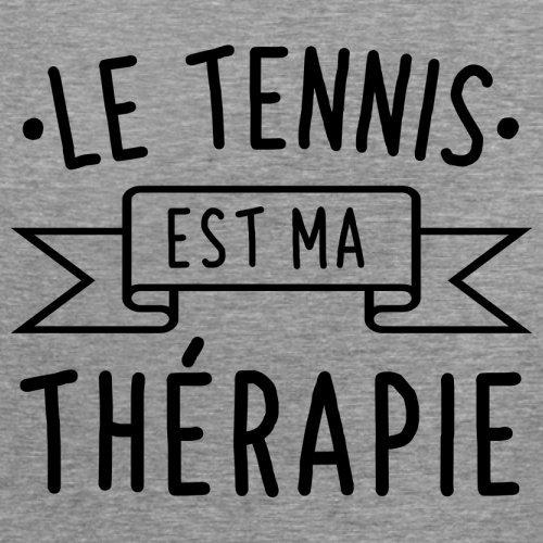 Le tennis est ma thérapie - Femme T-Shirt - 14 couleur Gris