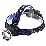 Genwiss 3000 Lumens Headlight XM-T6 LED 3 Mode Waterproof Zoom Focus Front Light