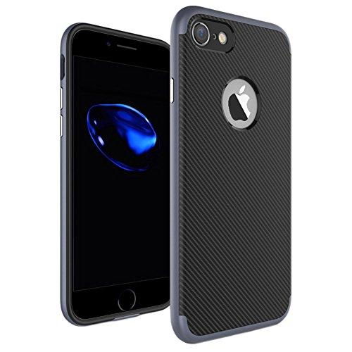 Ultraslim Case Hülle für Apple iPhone 7 Schutzhülle Cover Handyhülle Hardcase Grau
