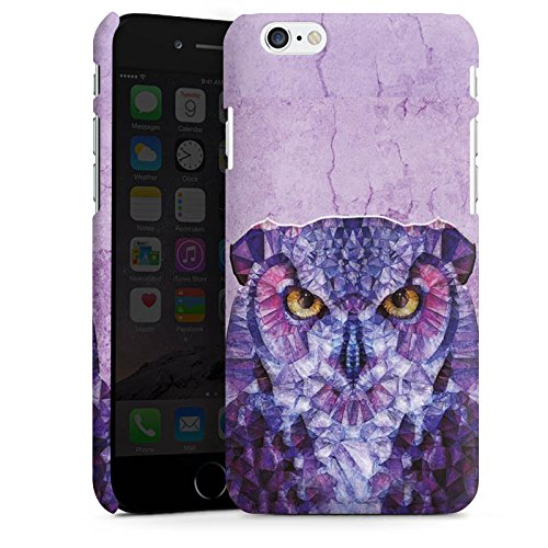 Apple iPhone X Silikon Hülle Case Schutzhülle Eule Owl Lila Premium Case matt