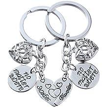 2pcs Familie Geschenk Mutter Tochter Key Chain Set keine Materie Wo Split gebrochenen Herz Anhänger für Frauen Mädchen