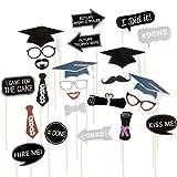 LUOEM Photo booth props puntelli per festa di laurea con frase e lettere 24PCS