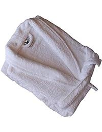 Home Basic - Albornoz con cuello tipo smoking, talla XL, color blanco