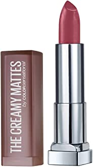 Maybelline New York Color Sensational Creamy Matte Lipstick, 660 Touch of Spice, 3.9g