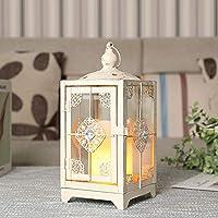 Linternas decorativas de diseño JHY Linternas de vela de metal de 28 cm de alto Linterna colgante de estilo vintage