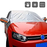 Auto parabrezza impermeabile di protezione UV traspirante durante estate e inverno, auto parasole per auto, furgoni e SUV - copri parabrezza, tergicristalli, e specchi–Basta raschiare con un pennello o pala.