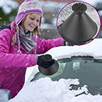 Ice Scraper,A Round Hirundo Magical Ice Scraper for Car Snow Remover Tool for Car Windshield Windscreen, Trucks, Vans and SUV-GOEU