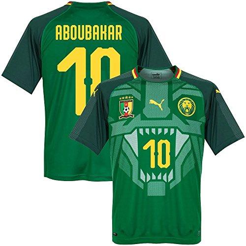 Kamerun Home Trikot 2018 2019 + Aboubakar 10 (Fan Style) - M