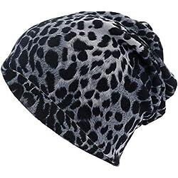 OVINEE Sombrero de Doble Uso con Estampado de Leopardo Gorra Trenzada,Unisex,Outdoor Sportswear,para Caza, Camping, Senderismo, Viajes,Guapo,Mantener,Caliente (Negro)
