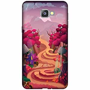 Samsung Galaxy A9 Pro Plastic Back Cover - Multicolor Designer Cases Cover By Printland