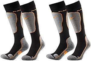 Black Crevice - 2 paia di calze da sci, imbottite, 2 diversi volori, 3 misure