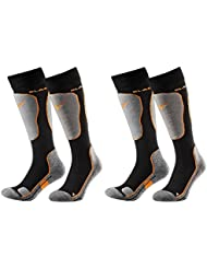 Black Crevice Skisocken - Calcetines, color multicolor, talla 35-38