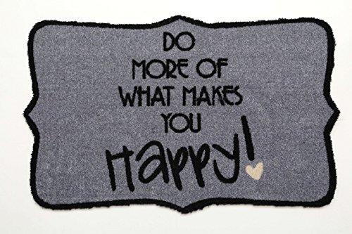 Tappetino zerbino // kuheiga/base tergivetri/Scarpe/sporco heliobil - grigio - Do opaca More of what makes you Happy - ca 50 x 75 cm