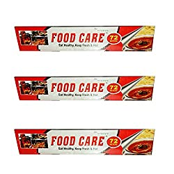 Food Care Non-Stick Ultra-Thick Heavy Duty Household Aluminium foil roll, Food Safe Cling Wrap - Professional Quality Best Kitchen Wraps & Baking need Aluminium foil 72 MTR