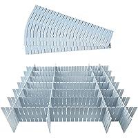 Séparateur tiroirs 12 Pièces, Réglable Grille Tiroir Diviseurs, Organisateur de Tiroir Réglable, Séparateur Placard en…