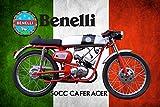 Benelli 50cc Cafe Racer Italien Motorrad blechschild
