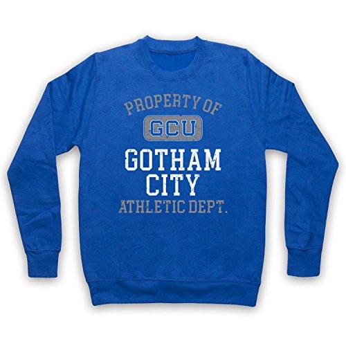 The Guns Of Brixton Justice League Cyborg GCU Gotham City Athletic Dept Erwachsenen Sweatshirt, Blau, XS - City Tv Brust