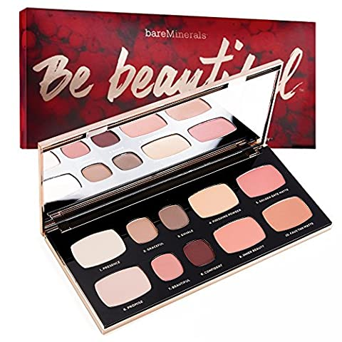 Bare Minerals Face and Eye Shadow Ready Palette - 'Be Beautiful'- Range of Eyeshadow, Blusher, Bronzer & Finishing Powder