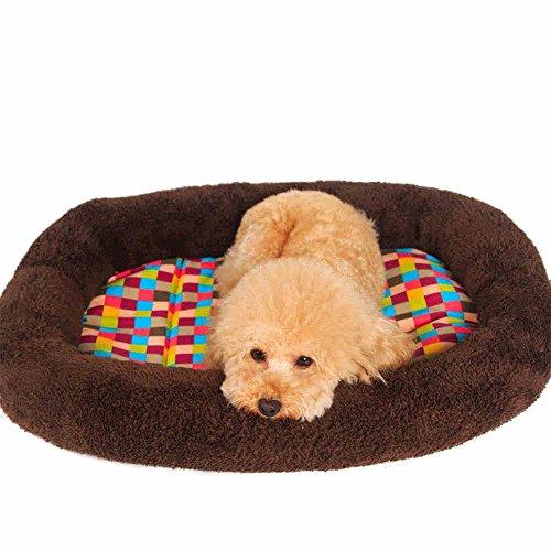 Deluxe Orthopädische Memory Foam Sofa Lounge Hundebett, klein, braun (Size : M80*62*5cm)