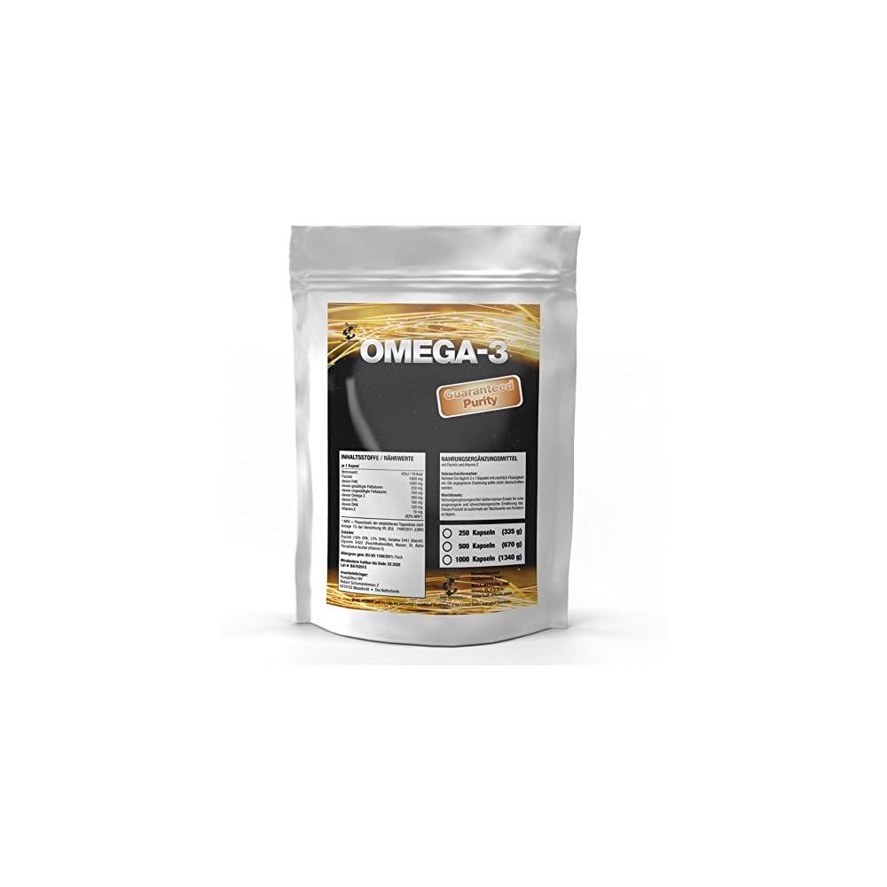Omega 3 1000 Mg 250 Softgel Kapseln Vorratspackung Premium Lachsl Fischl Hochseefisch Vitamin E 18 Epa 12 Dha Gesunde Fettsuren Zum Fairen Preis