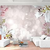 Fototapete Blumen Lilien Weiß Vlies Wand Tapete Wohnzimmer Schlafzimmer Büro Flur Dekoration Wandbilder XXL Moderne Wanddeko Flower 100% MADE IN GERMANY - Runa Tapeten 9125010a