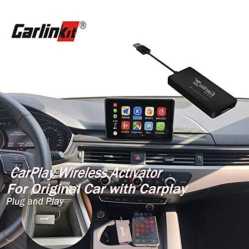 Carlinkit Wireless Carplay Upgrade Aktivator für Audi/Porsche/Volvo/Benz/Porsche, Original Auto mit CarPlay, Lenkradknopf