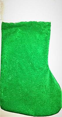 Green personalised Xmas/Christmas stocking/sack, handmade