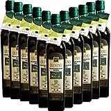 Olio Extravergine d'Oliva BIO | Frantoio Fierro | Tracciabilità singola bottiglia UNASCO | Confezione da 12 Bottiglie | 100% Olio Italiano | Estratto a Freddo | Idea Regalo
