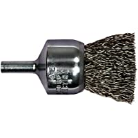 5//8 Face Width 20000 RPM Carbon Steel Wire 4 Diameter 0.014 Wire Size PFERD 81657P Standard Twist Knot Wheel Brush 3//4 Trim Length 1//2-3//8 Arbor Hole