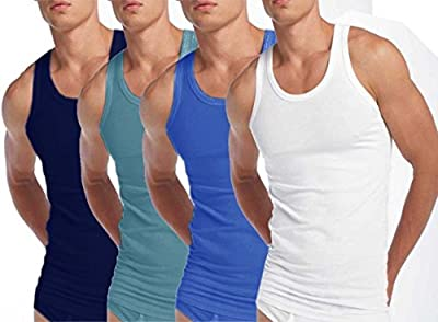 3 X MENS VESTS 100% Cotton TANK TOP SUMMER TRAINING GYM TOPS PACK WHITE