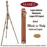 Cavalletto in Legno Italiano, resistente e regolabile in verticale e orizzontale per PITTURA in Esterno o Interno o per ESPOSIZIONE